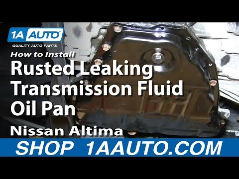 How To Install Replace Rusted Leaking Transmission Fluid Oil Pan 1998-01 Nissan Altima