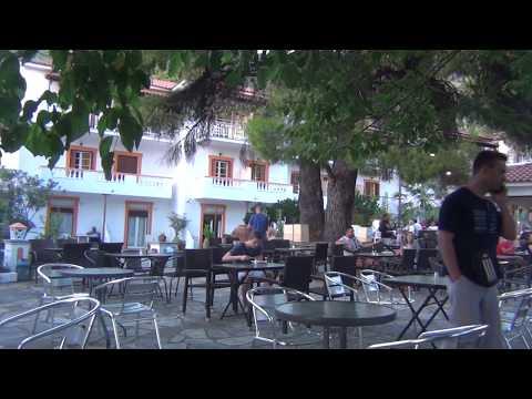 Neo Klima, hotel Elios - wieczór grecki