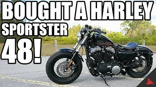 6. BOUGHT A NEW BIKE! - Harley Sportster 48!