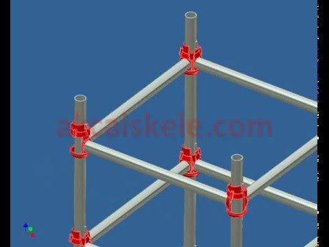 AKCA Scaffolding - Cuplock type - installation connection details
