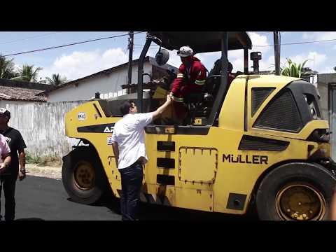Marcelo Palmeira vistoria obras de pavimentação na Santa Lúcia
