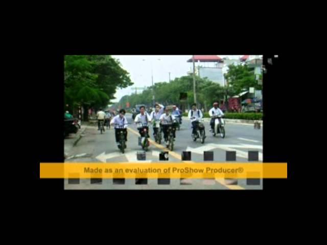 Dự thi tập thể ATGT - Trường THPT Hàng Hải, Lạch Tray, Hải Phòng.