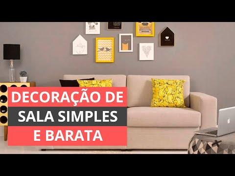 DECORAÇÃO DE SALA SIMPLES E BARATA - PASSO A PASSO