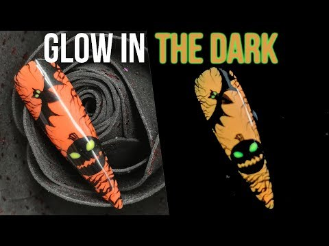 Gel nails - GLOW IN THE DARK HALLOWEEN NAIL ART