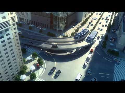 Çinliler içinden araba geçen otobüs tasarladı