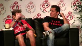 Steve Cardenas, who played Rocky DeSantos, and Robert Axelrod, the voice of Lord Zedd, talk about their experiences with the Power Rangers shows and movies. You are watching my secondary channel, where I upload my unedited footage. For edited videos, see my main channel: http://www.youtube.com/AdamTheAlien --My website: http://www.AdamTheAlien.com