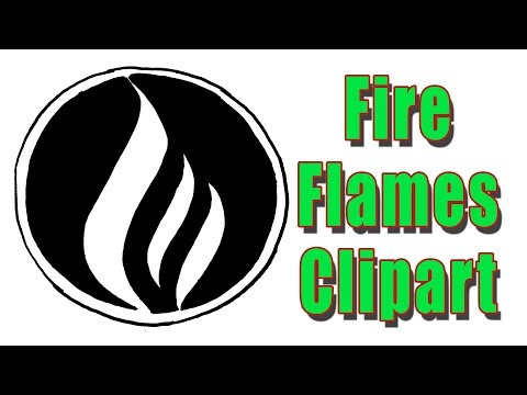 How to Draw Fire Flames Clipart Black And White