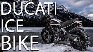 Ducati Scrambler sul ghiaccio