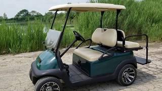 9. 48v Electric Golf Cart Club Car Precedent With Flip Seat & Custom Rims