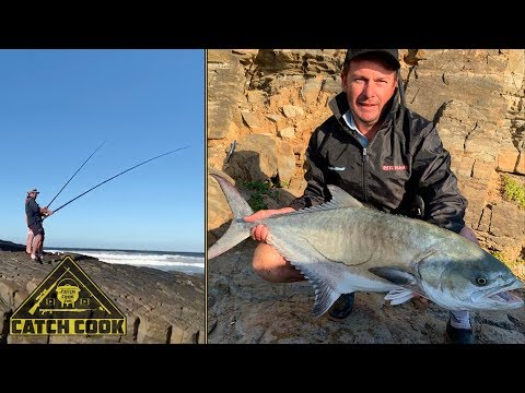 Big Wild Coast garrick on live bait, catch cook, South Africa