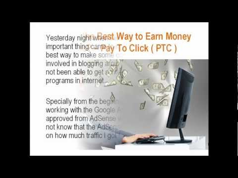 Which is the Best Way to Earn Money Online? — Pay To Click