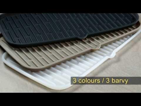 Видео Полки и сушилки Tescoma Сушилка силиконовая CLEAN KIT 42x24 см Tescoma 900646