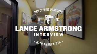 Lance Armstrong stopped by the HED Cycling Products Headquarters in Minneapolis, MN for a little tour as well as an interview with Andrew Hed.