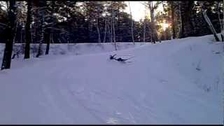 Лучшие падения на лыжах)))