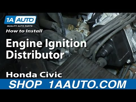 How To Install Replace Engine Ignition Distributor 1996-98 Honda Civic
