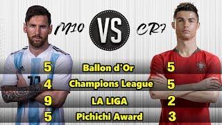 Download Video LIONEL MESSI VS CRISTIANO RONALDO (Awards, Trophy & Achievements) MP3 3GP MP4