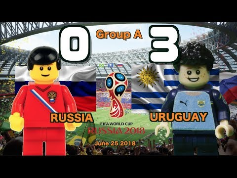 🔥 Россия vs Уругвай 0-3 • World Cup 2018 All Goals Highlights Lego Football