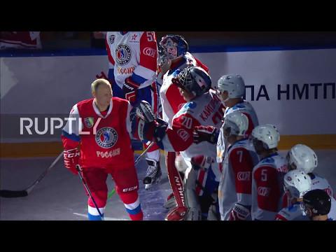 Russia: Putin hits the ice for Night Hockey League festival in Sochi