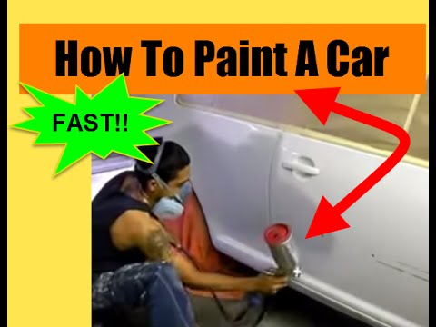How To Paint A Car Fast!