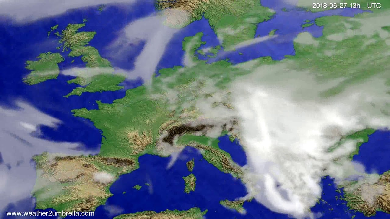 Cloud forecast Europe 2018-06-24