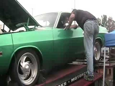 1970 Dodge Challenger catches fire on the dyno