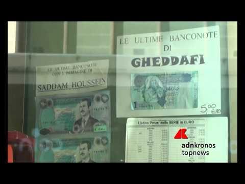 regalo originale? le banconote di saddam o gheddafi!