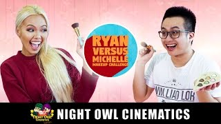 Video Makeup Challenge: Michelle VS Ryan! MP3, 3GP, MP4, WEBM, AVI, FLV Maret 2019