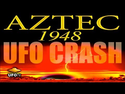 UFOTV - On March 25, 1948 a UFO spacecraft of extraterrestrial origin crashed in a place called Aztec, New Mexico. Sixteen alien bodies were discovered dead inside. ...