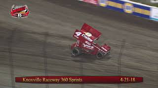 Knoxville Raceway 360 Highlights - April 21, 2018