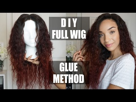 HAIR| Easy DIY Full Wig with Lace Closure (Glue Method) - Wow African Funmi Bundles