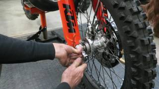 5. KTM Dirt Bike Front Wheel Installation