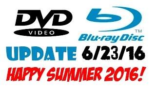 Blu-ray/DVD Update 6/23/16 - Happy Summer 2016!