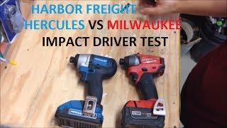 Video NEW Harbor Freight Hercules Impact Driver vs Milwaukee M18 Fuel MP3, 3GP, MP4, WEBM, AVI, FLV November 2017