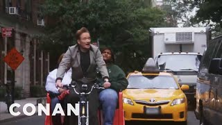 Video Conan O'Brien: NYC Pedicab Driver MP3, 3GP, MP4, WEBM, AVI, FLV Februari 2019