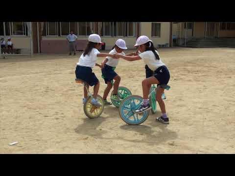 ベルマーク一輪車講習会 和歌山・津木小学校