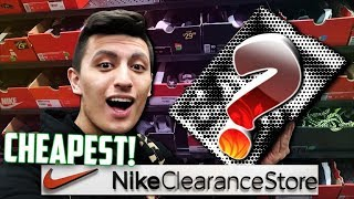 THE CHEAPEST NIKE OUTLET SNEAKERS EVER!