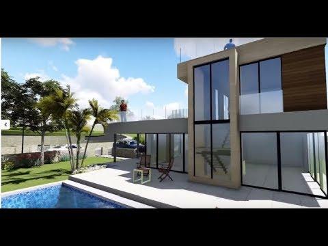 Новая элитная вилла на Коста Бланка в солнечной Испании! Дом в стиле хай-тек в городе Полоп