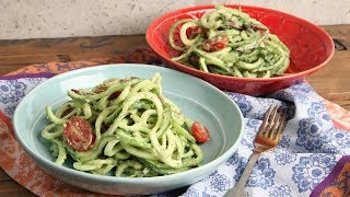 Zoodles with Avocado Pesto Recipe | Episode 1169 by Laura in the Kitchen