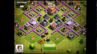 Clash of Clans Town Hall Level 7 Funnel Defense Replays