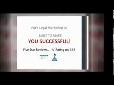 Pat's Legal – Internet Marketing and Website Design Introduction Video for Law Firms