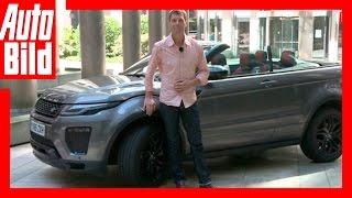 Kommentar Evoque Cabrio - Sommer-Trend SUV Cabrios by Auto Bild