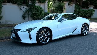 The Lexus LC 500 is the new two-door sport coupe from Lexus with a 471hp 5.0L V8 engine. The LC 500h is the hybrid version of the same car. It has a 3.5L V6 and Lexus Multi-Stage Hybrid System producing a -0-100km run only slightly less, even though it only has 354hp. Yes, the LC 500h has a CVT but also a 4-speed automatic to make shifts very quick and feel just like the regular gasoline version.Twitter: https://twitter.com/MotormouthCDNFacebook: http://tinyurl.com/motormouthfbMotormouth: http://www.motormouth.ca/Subscribe: http://tinyurl.com/motormouthsubscribeZack SpencerZach SpencerCanadian Car ReviewMotormouth Canada