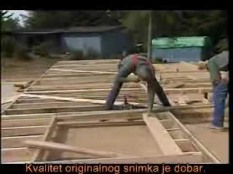 Градња дрвене куће 2 - зидна конструкција