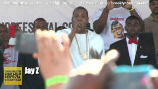 Jay Z and Jay Electronica Rock The Brooklyn Hip Hop Festival  2014