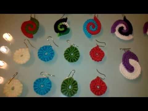Pendientes crochet surtidos flamenca