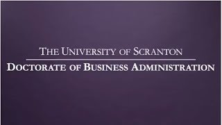 The University of Scranton DBA Program