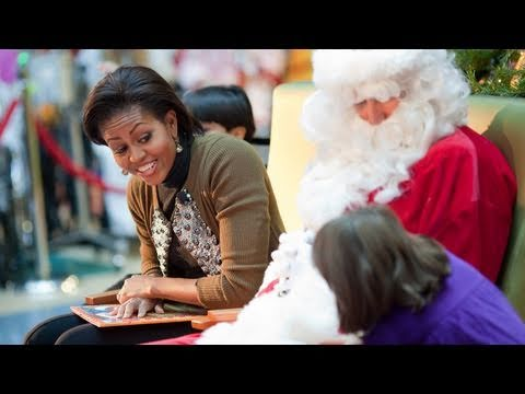 First Lady Michelle Obama Visits The Children-s National Medical Center