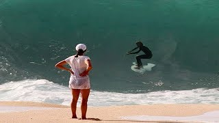 Video Surfers Attempt to Ride Waves Dangerously Close to the Beach on Tiny Surboards MP3, 3GP, MP4, WEBM, AVI, FLV September 2019