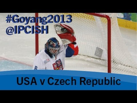 Ice sledge hockey - USA v Czech Republic - 2013 IPC Ice Sledge Hockey World Championships A Pool