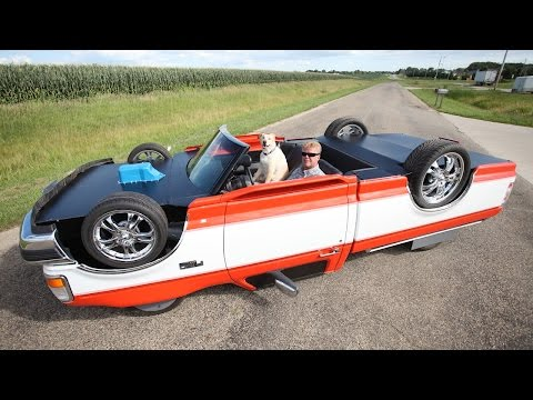 """Mechanic Constructs Drivable """"Upside Down Truck"""""""